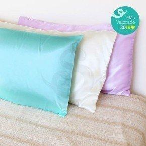 Funda de satén anti-frizz para almohadas, hecha a mano.