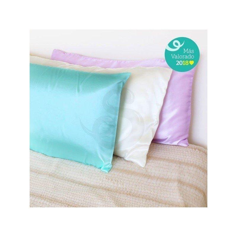 Funda para almohada de satén hecha a mano, máximo confort anti-frizz - Sofía Black