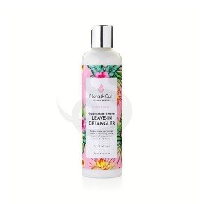 Flora & Curl Hydrate Me Organic Rose & Honey Milk Leave-In Detangler, acondicionador sin aclarado