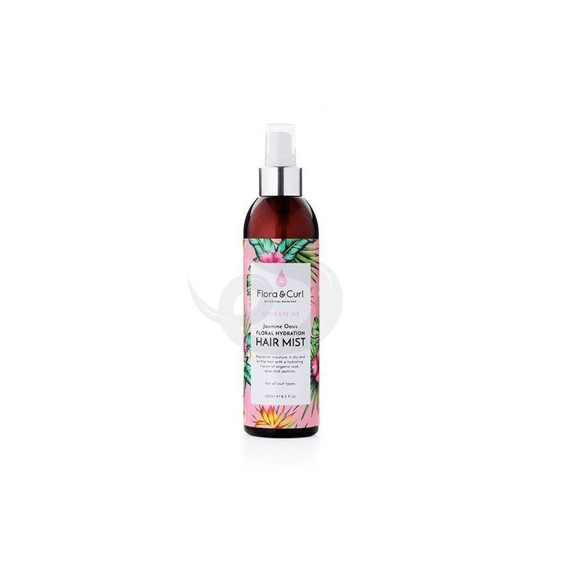 Flora & Curl Hydrate Me Jasmine Oasis Hydrating Hair Mist, activador de rizos