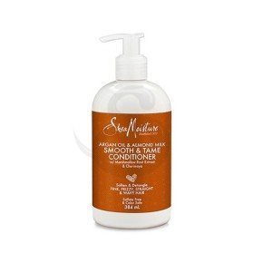 Shea Moisture Argan Oil & Almond Milk Smooth & Tame Conditioner, acondicionador ideal para cabello fino