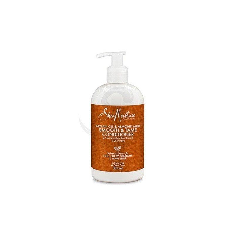 Shea Moisture Argan Oil & Almond Milk Smooth & Tame Conditioner, acondicionador ideal para cabello fino