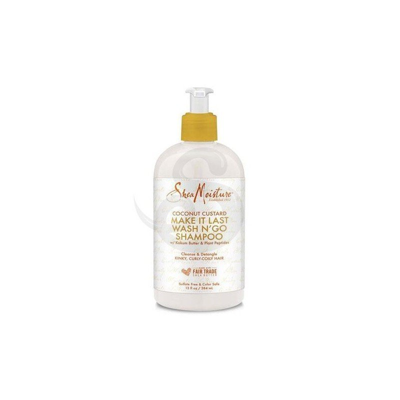 Shea Moisture Coconut Custard Make It Last Wash N' Go Shampoo