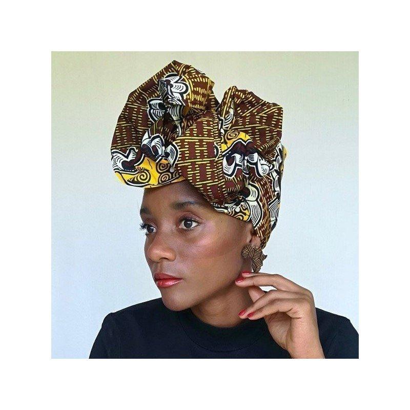 Pañuelo de tela wax para hacer turbantes - Ananá