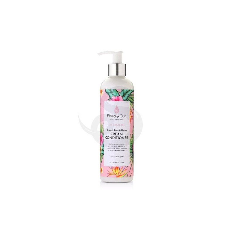 Flora & Curl Hydrate Me Organic Rose & Honey Cream Conditioner