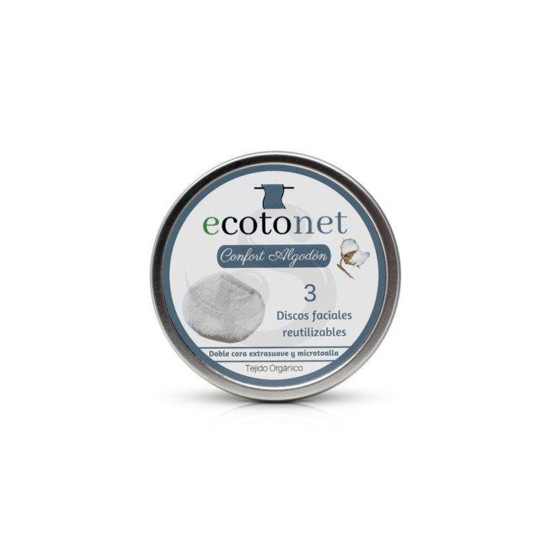 Ecotonet Discos desmaquillantes ecológicos de algodón bio
