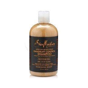 Shea Moisture African Black Soap Dandruff Control Shampoo, champú para tratar psoriasis y caspa