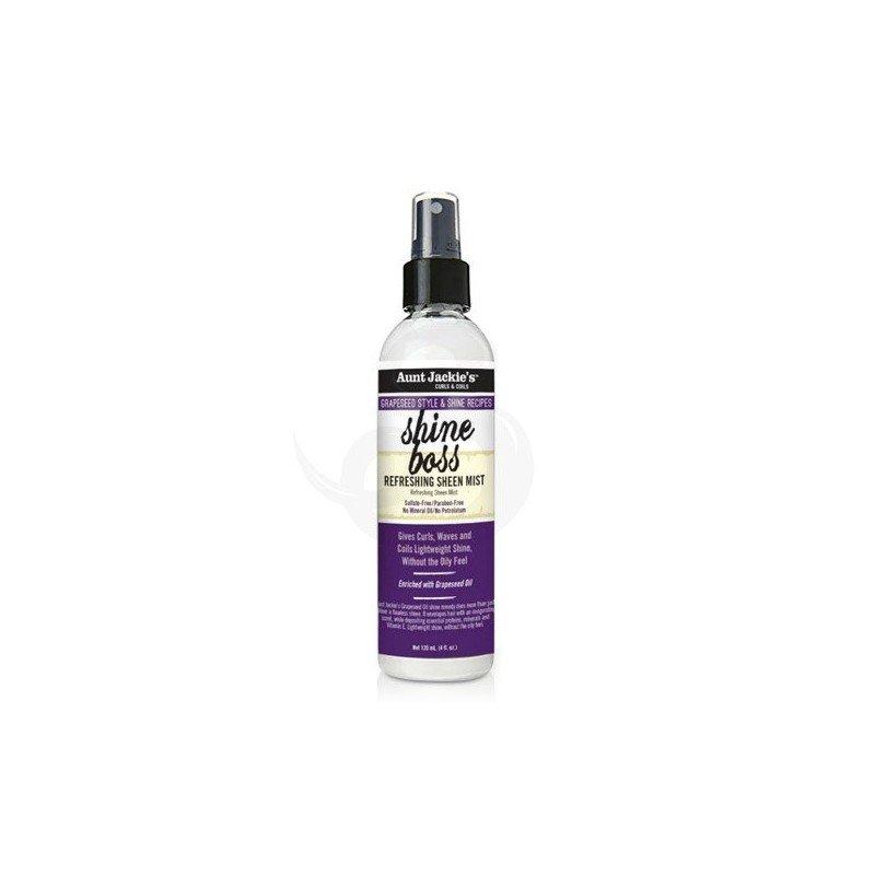 Aunt Jackie's Grapeseed Style & Shine Recipe Shine Boss Refreshing Sheen Mist