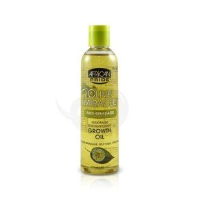 African Pride Olive Miracle Growth Oil, tratamiento aceite caliente pelo afro