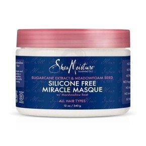 Shea Moisture Sugarcane Extract & Meadowfoam Seed Silicone-Free Miracle Masque, mascarilla silicona soluble al agua