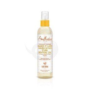 Shea Moisture Coconut Custard Make It Last Wash N' Go Curl Revival Oil