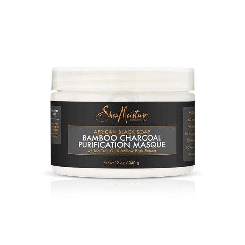 Shea Moisture African Black Soap Bamboo Charcoal Purification Masque, mascarilla detox