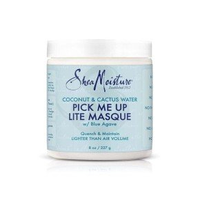 Shea Moisture Coconut & Cactus Water Pick Me Up Masque, mascarilla pelo rizado fino