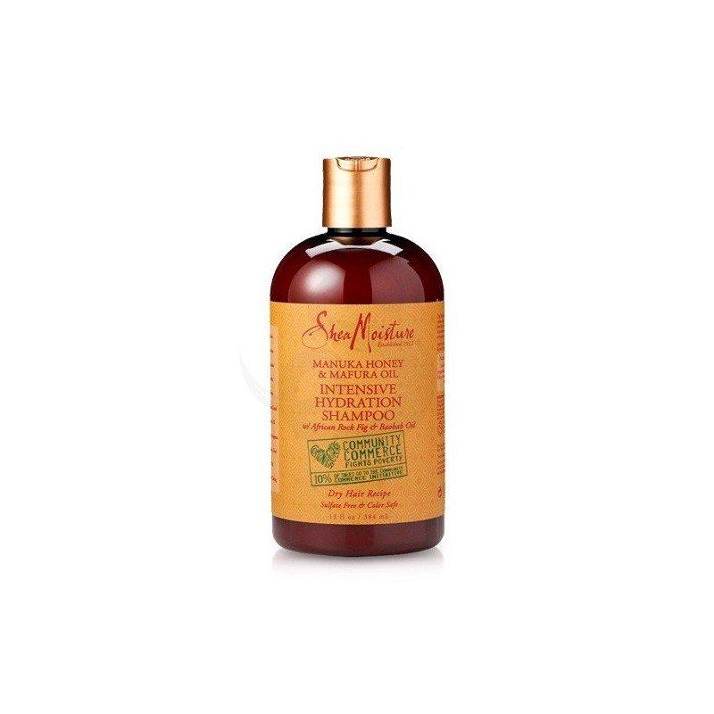 Shea Moisture Manuka Honey & Mafura Oil Intensive Hydration Shampoo, champú hidratante intensivo