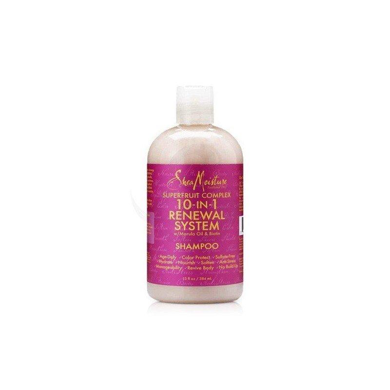 Shea Moisture SuperFruit Complex 10-in-1 Renewal Shampoo, champú rico en antioxidantes