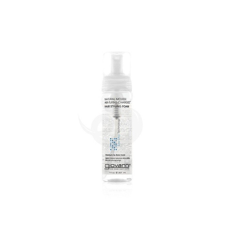 Giovanni Eco Chic Natural Mousse Air Turbo Charged Hair Styling Foam, fijador en espuma
