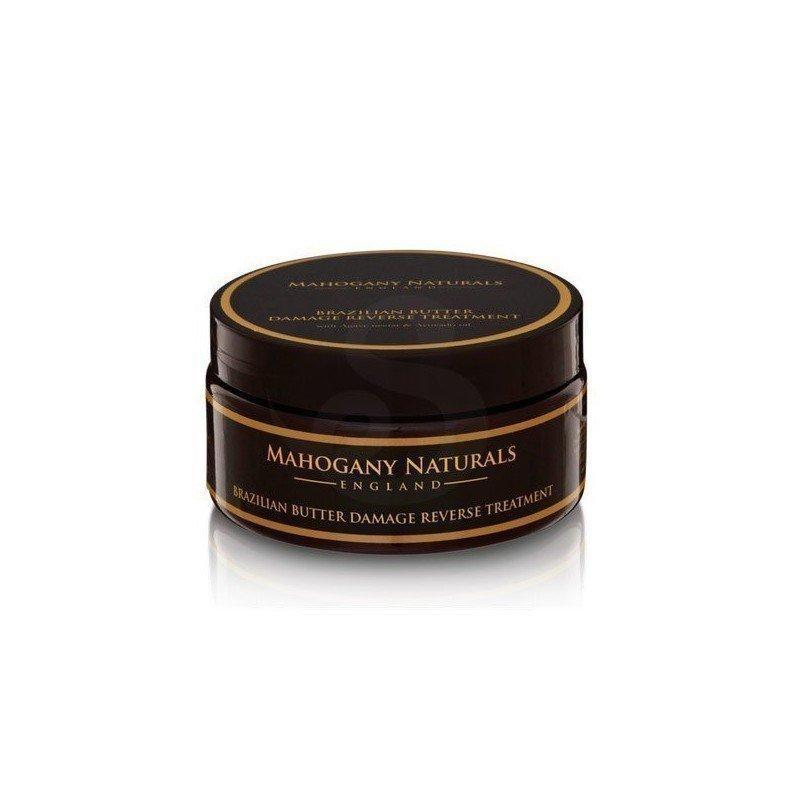 Mahogany Naturals Brazilian Butter Damage Reverse Treatment, manteca brasileña reparadora