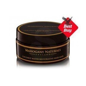 Mahogany Naturals Coconut Water Restorative Hair Mask, tratamiento de hidratación intensa