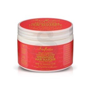 Shea Moisture Fruit Fusion Coconut Water Weightless Masque, mascarilla para cabello fino y normal