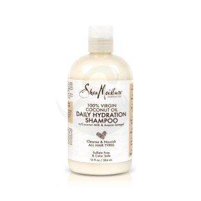 Shea Moisture 100% Virgin Coconut Oil Daily Hydration Shampoo, champú hidratante con aceite de coco 100% virgen