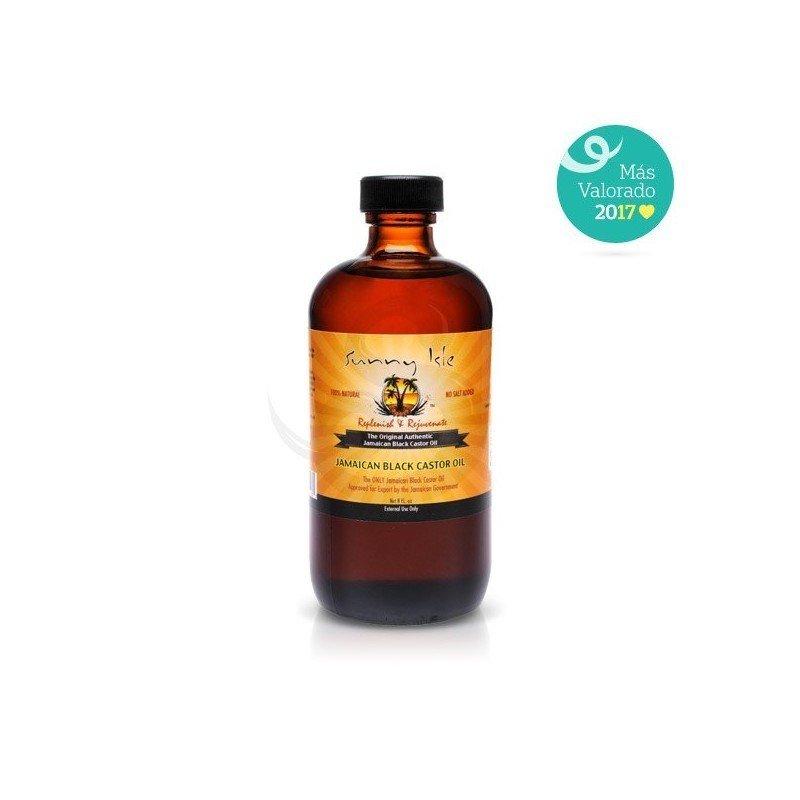 Sunny Isle Jamaican Black Castor Oil, aceite de ricino negro jamaicano puro