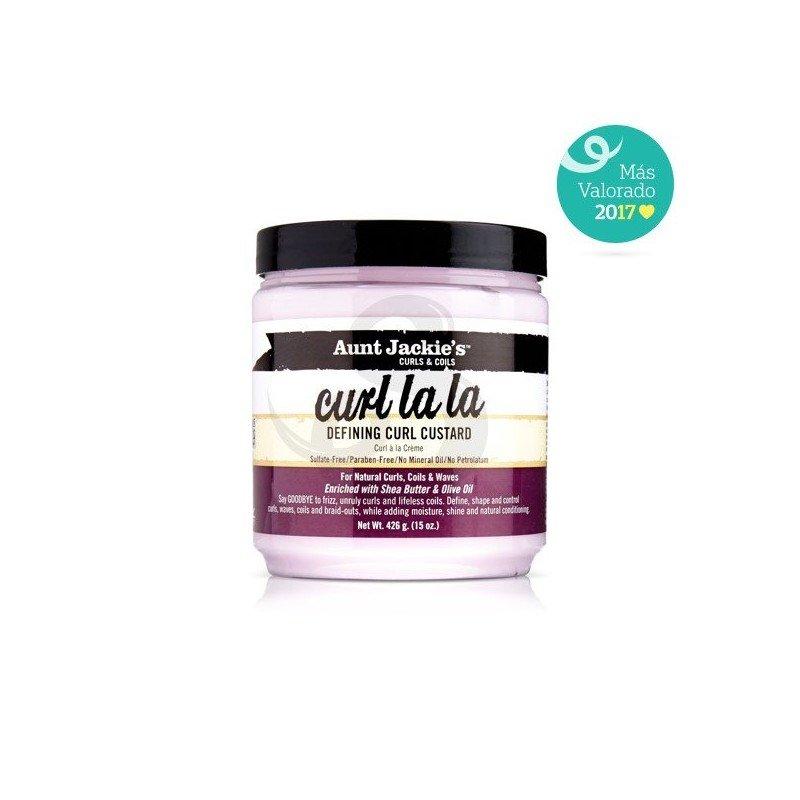Aunt Jackie's Curls & Coils Curl La La Defining Curl Custard, crema de peinado de uso diario