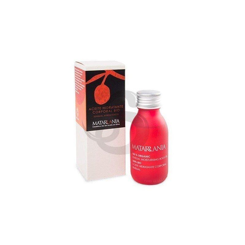 Aceite hidratante corporal sensual 100% BIO Matarrania, disfruta de una nueva experiencia estimulante, para todo tipo de pieles