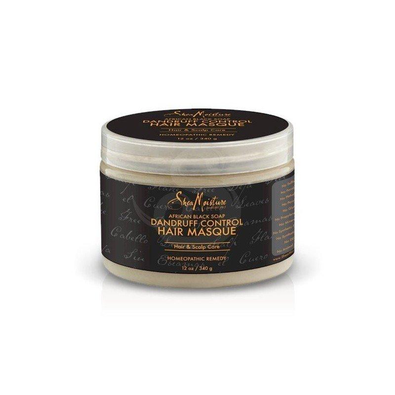 Shea Moisture African Black Soap Dandruff Control Hair Masque, tratamiento anticaspa alivia el picor y descamaciones