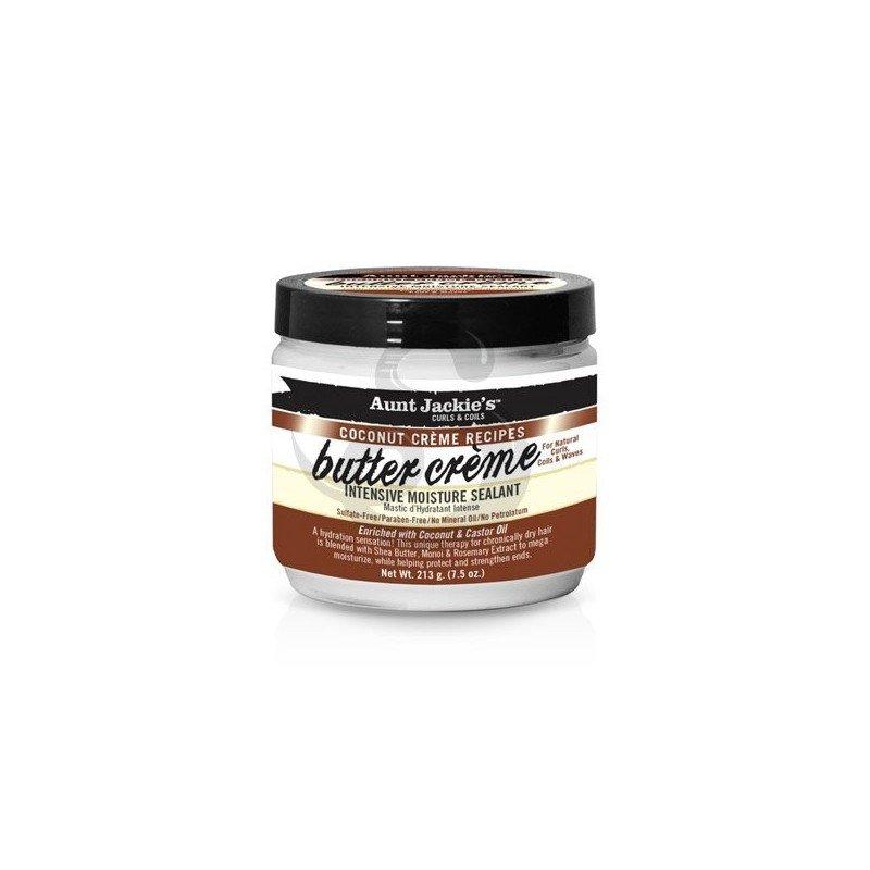 Aunt Jackie's Coconut Crème Recipes Butter Crème Intensive Moisture Sealant, acondicionador sin aclarado