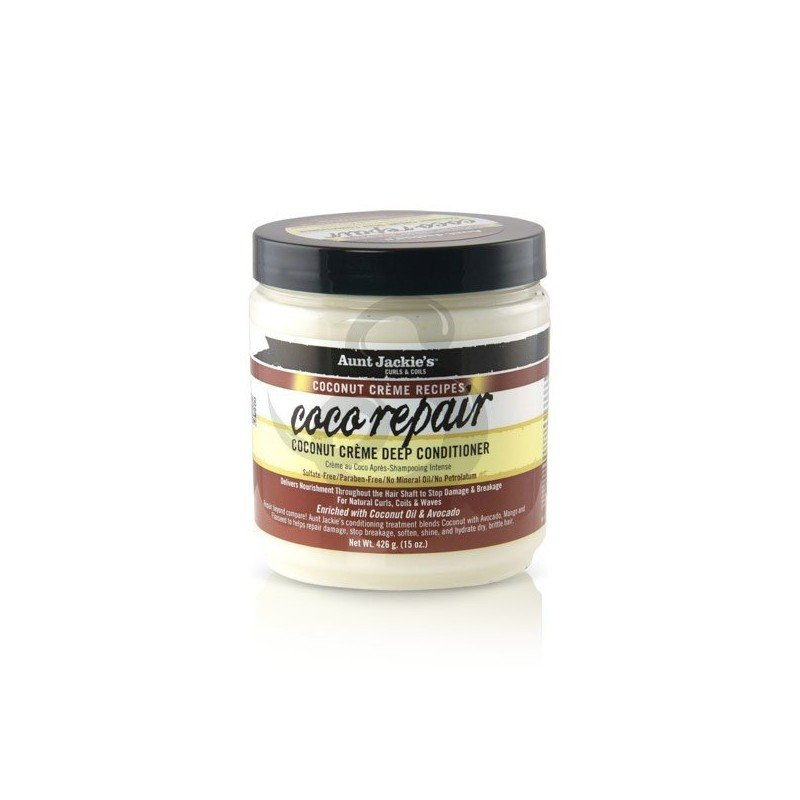 Aunt Jackie's Coconut Crème Recipes Coco Repair Deep Conditioner, acondicionador profundo