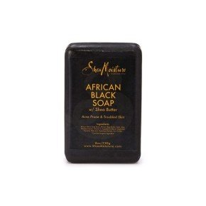 Shea Moisture African Black Soap Bath & Body Bar Soap, jabón negro africano para piel sensible
