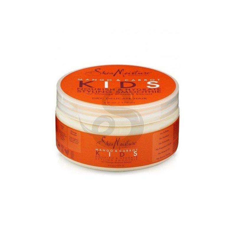 Shea Moisture Mango & Carrot KIDS Nourish & Hydrate Styling Smoothie, crema de peinado para niños