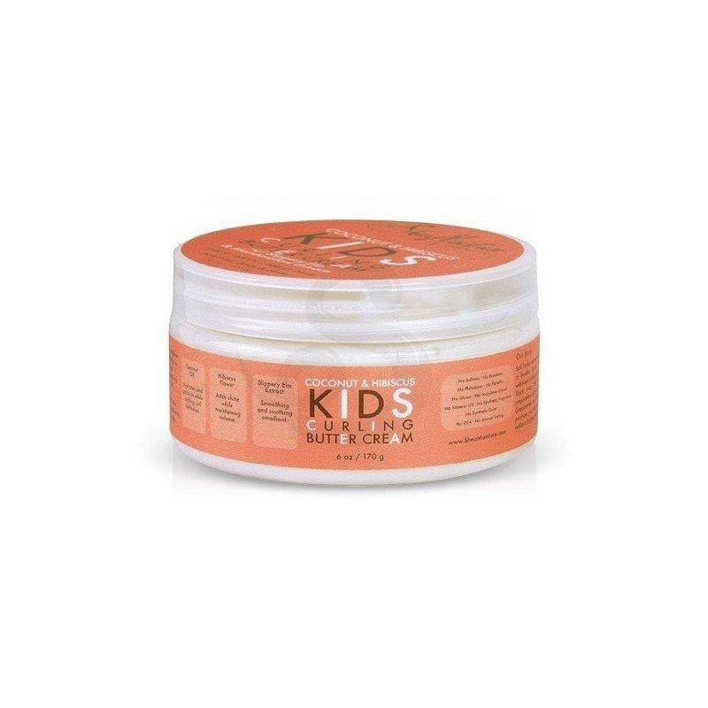 Shea Moisture Coconut & Hibiscus KIDS Curling Butter Cream, crema de peinado para niños