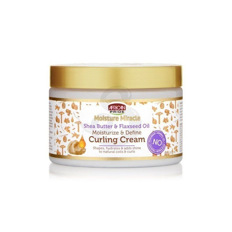 African Pride Shea Butter & Flaxseed Oil Curling Cream, crema de peinado