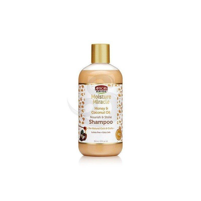 African Pride Honey & Coconut Oil Shampoo, champú con miel y aceite de coco