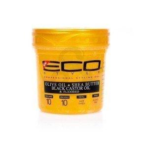 Eco Styler Gold Gel, fijación fuerte con aceite de oliva, ricino, linaza y manteca de karité