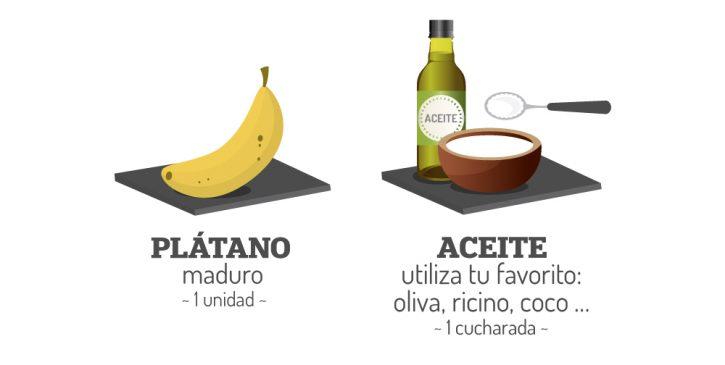 mascarillas caseras para el pelo rizado de plátano maduro y aceite