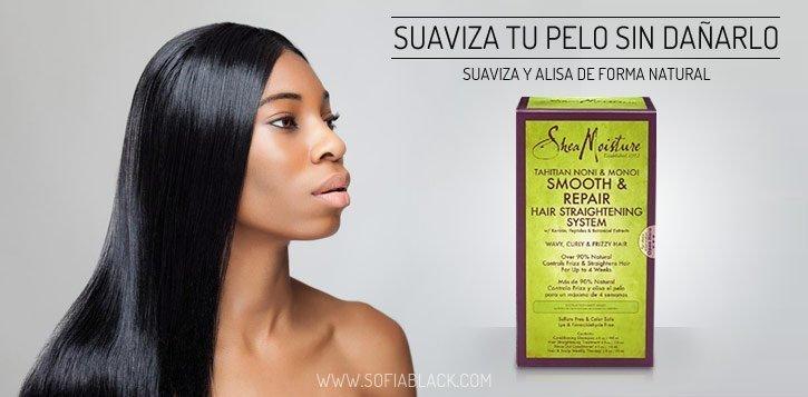 Alisar el pelo de forma natural y temporal con Shea Moisture