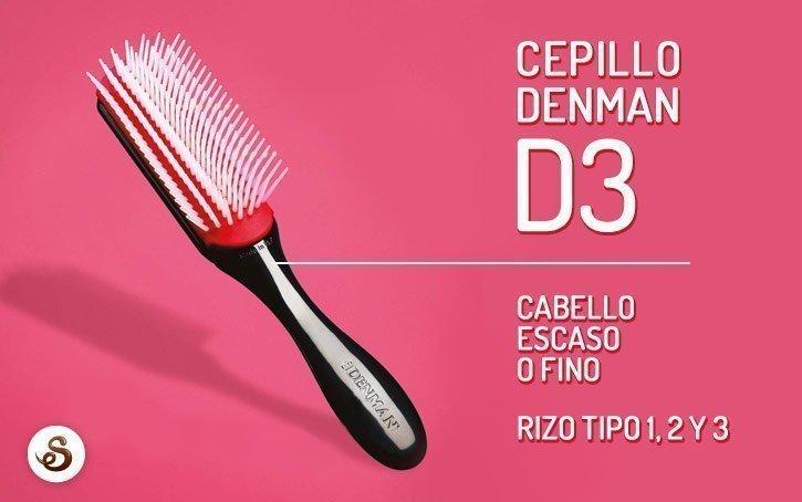 Cepillo Denman D3 para cabello escaso o fino.
