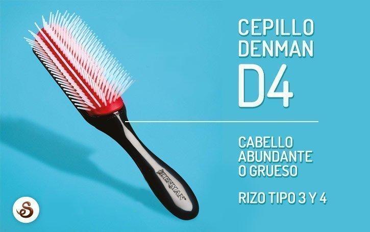 Cepillo Denman D4 para cabello abundante o grueso.