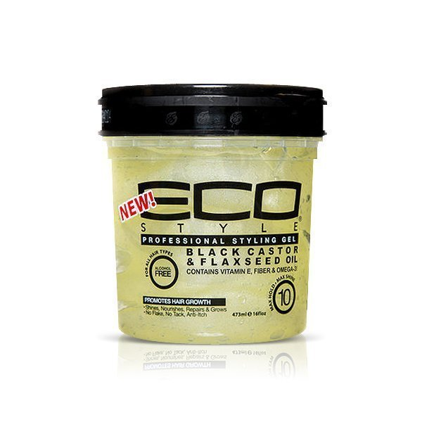 Eco Styler Black Castor & Flax Seed Oil, gel fijador sin alchol