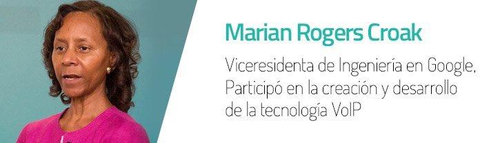 Marian Croak actualmente es vicepresidenta de ingeniería en Google.