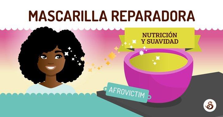 Mascarilla reparadora para cabello dañado by Afro Victim (DIY)