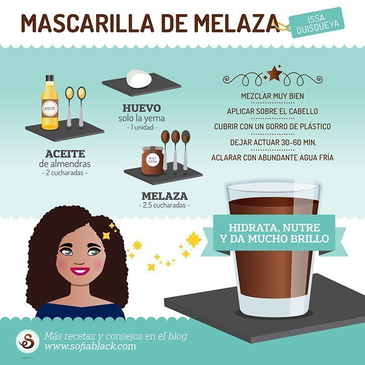Mascarilla casera hidratante de melaza (DIY) by Issa Quisqueya