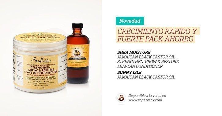 Leave-in Shea Moisture + Aceite puro de ricino negro | PACK AHORRO