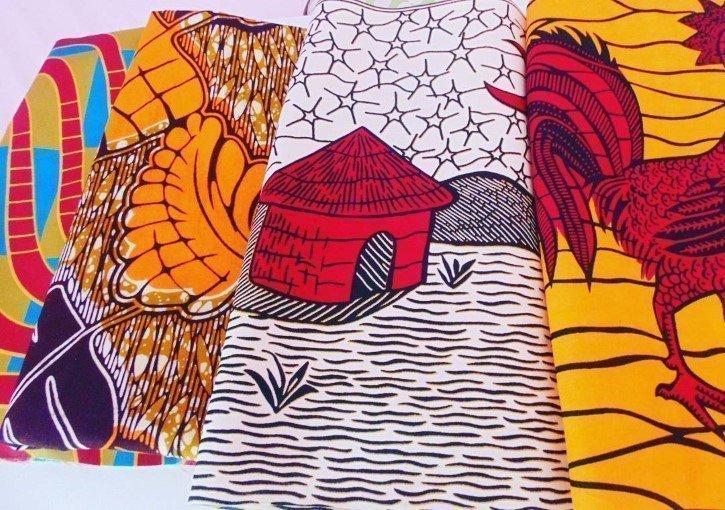 Telas africanas del tipo Wax